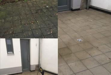 Terrassenreinigung/ entfernen von Moos und Unkraut